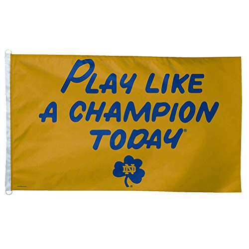 RongJ- store NCAA Notre Dame Play Like A Champion Today 3-by-5 Foot Flag