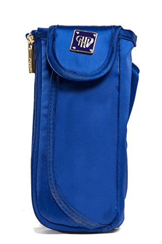 PurseN Duo Eyeglass Case (One Size, Navy/ Ocean Mykonos)