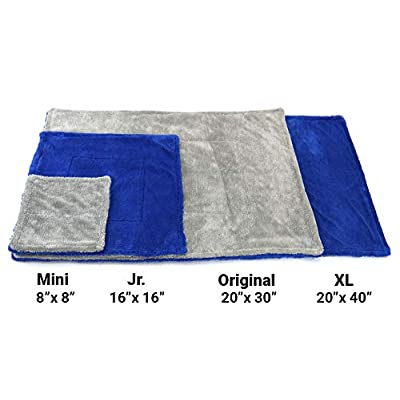 Amphibian Detailing Towel - Dual-Weave Towel with Twist and Plush Sides, Great for Windows and Glass (Blue/Gray, Jr. (16