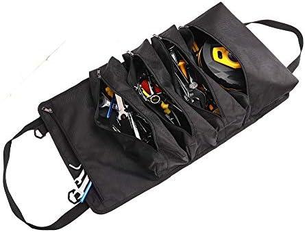 Hersent ツールロール折り畳み式 ツールバッグ 工具差し入れ 道具袋 工具バッグ 5個ポケット アウトドア作業用 超耐久性 防水