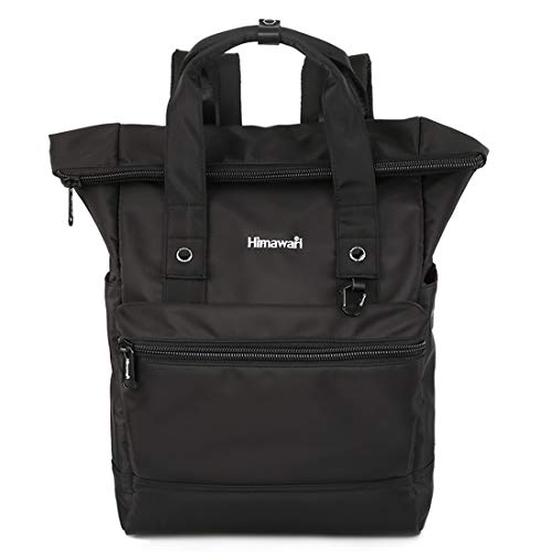 Himawari Travel School Backpack 15.6 Inch Doctor Work Bag for Women&Men College Students(H1681-Black)