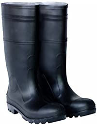 CLC Custom Leathercraft R23010 Over The Sock Black PVC Men's Rain Boot, Size 10