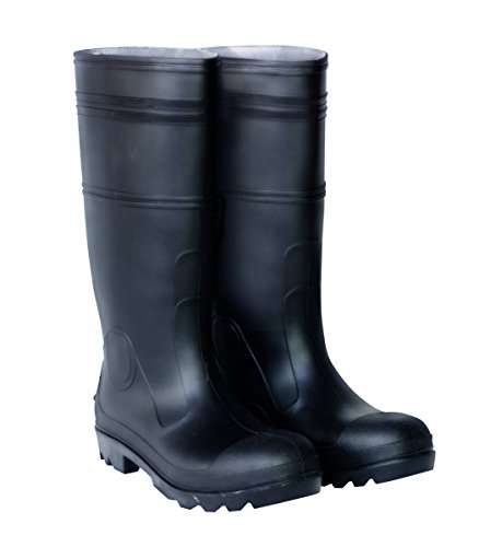 CLC Custom Leathercraft Rain Wear R23008 Over The Sock Black PVC Men's Rain Boot, Size - Calf Footwear Black Custom