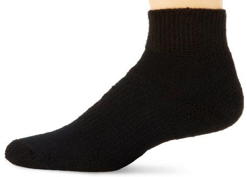 (Thorlos Unisex WMX Walking Thick Padded Ankle Sock, Black, Large)