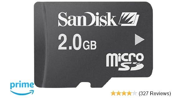 Sandisk microSD 2GB memory card