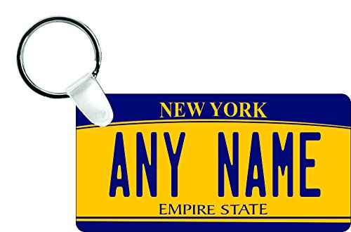 Plastic Turnaround Truck (TEAMLOGO Personalized New York License Plate - Sizes for Kid's Bikes, Cars, Trucks, Cart, Key Rings Version 2 (1.5