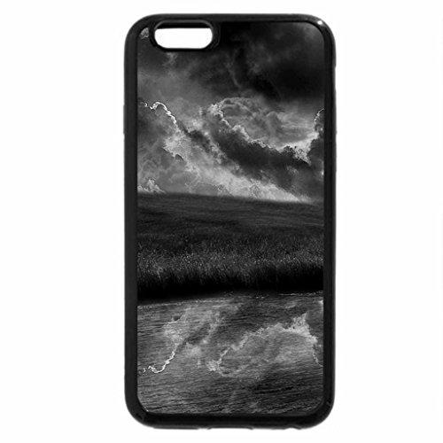 iPhone 6S Plus Case, iPhone 6 Plus Case (Black & White) - super sky reflected in pond