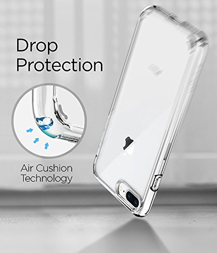 Spigen Ultra Hybrid [2nd Generation] iPhone 8 Plus Case / iPhone 7 Plus Case with Clear Protection and Air Cushion Technology for iPhone 8 Plus (2017) / iPhone 7 Plus (2016) - Crystal Clear
