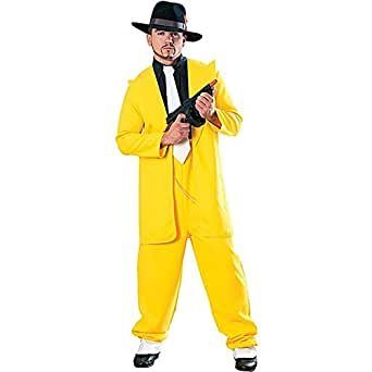Yellow Zoot Suit Gangster Costume