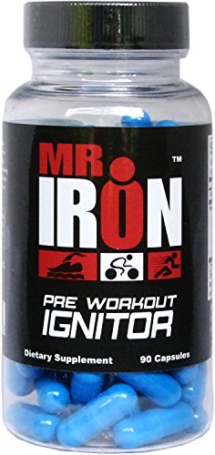 Mr IRON Pre Workout Ignitor 90 Capsules - Best Preworkout Supplement Pills That Work Fast