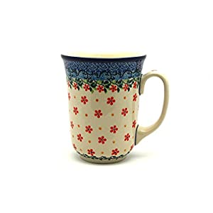 Polish Pottery Mug – 16 oz. Bistro – Cherry Jubilee