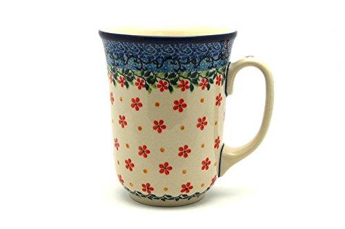 (Polish Pottery Mug - 16 oz. Bistro - Cherry Jubilee)