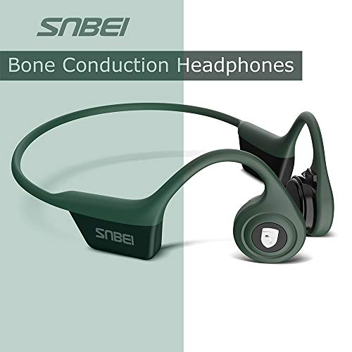 SNBEI Wireless Bone Conduction Headphones Leisure Cycling Sports headsets Green