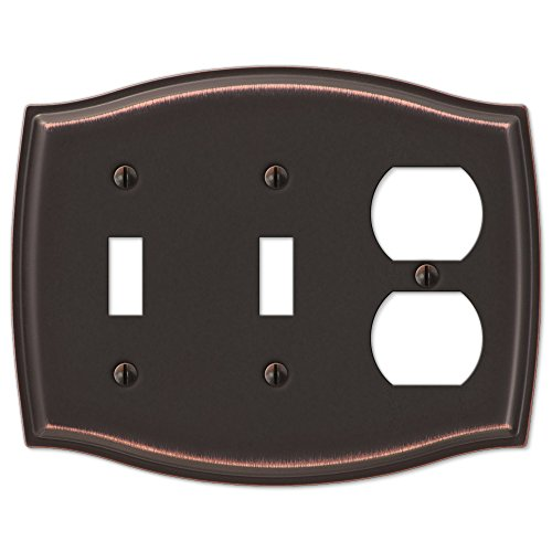 - Double Toggle Single Duplex Switch Plate Outlet Cover Rocker Toggle Light Wall Plate - Oil Rubbed Bronze