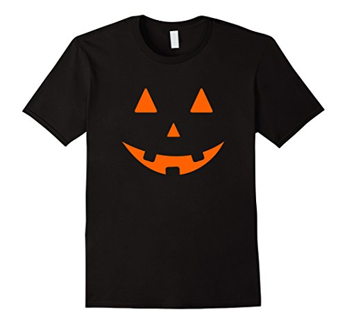 Men's Simple Halloween Costume Tee Shirt JACK O LANTERN PUMPKIN 2XL Black (Haloween Costume Ideas For Couples)
