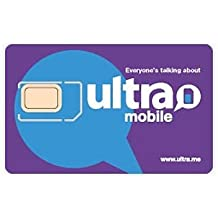 Ultra Mobile SIM Starter Kit Works on Unlocked GSM Phones including iPhone & Android