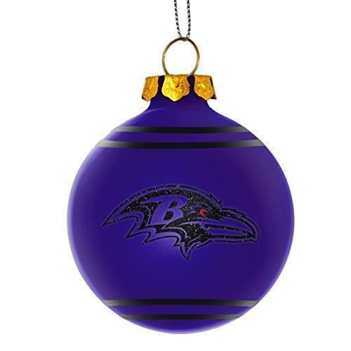 2014 NFL Football Team Glitter Logo Glass Ball Ornament - Pick Team (Baltimore - 2014 Glasses