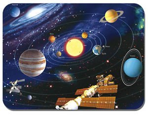 Map Of The Solar System Mouse Mat The Planets Astronomy