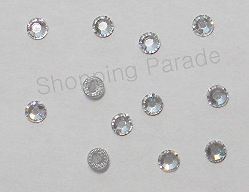 Swarovski Hotfix Rhinestones - Xilion Rose 2028 Crystal Clear Flatback SS12 - 3.0-3.2mm