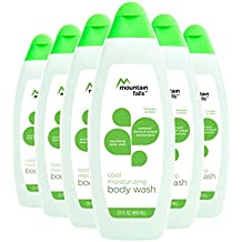 Mountain Falls Body Wash, Cool Moisturizing, Cucumber and Green Tea, with Nutrilock Blend of Natural Moisturizers, Compare to Dove, 22 Fluid Ounce (Pack of 6)