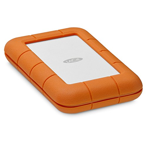 Pocket Lacie - LaCie Rugged Thunderbolt USB-C 2TB External Hard Drive Portable HDD - USB 3.0 compatible, Drop Shock Dust Water Resistant, Mac and PC Computer Desktop Workstation Laptop, 1 Mo Adobe CC (STFS2000800)