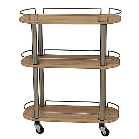 Household Essentials 3-Shelf Utility Cart in Light (Household Cart)