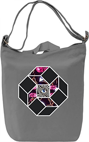 THIRD EYE Borsa Giornaliera Canvas Canvas Day Bag| 100% Premium Cotton Canvas| DTG Printing|