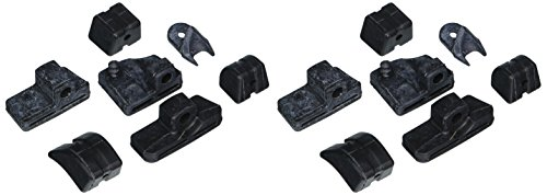 Kuryakyn 4468 Motorcycle Footpeg Components: Replacement Rubber Pads for SwingWing Pegs, Black