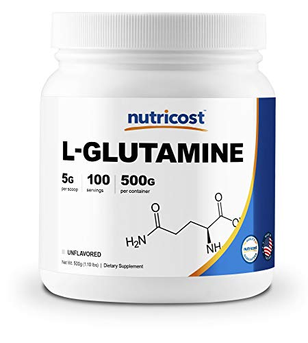 Nutricost L-Glutamine Powder (500 Grams) Unflavored - Gluten Free & Non-GMO (Powder Jarrow L-glutamine)