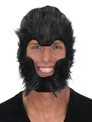 Jacobson Hat Company Unisex-Adult's Werewolf Mask 3, Gray,