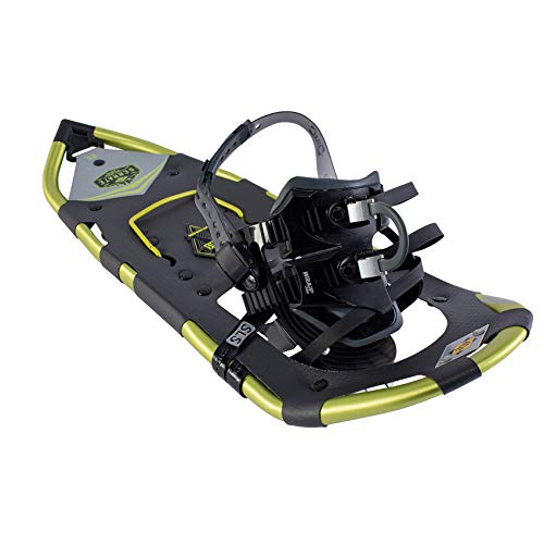 Atlas Snowshoes Company Men's Serrate Mountain Hiking Snowshoes, Dark Grey/Citron, 25