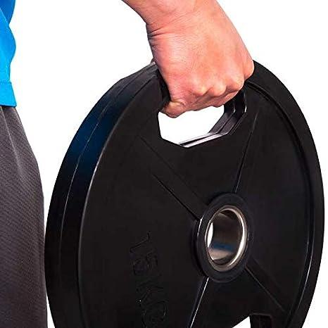 CP. Discos de Pesas Deporte olímpico Goma 1 par de Pesas de 50 mm ...