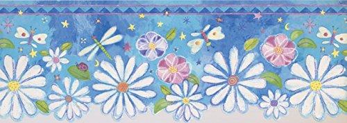 White Pink Purple Flowers Dragonfly Butterfly ISB4172B Wallpaper ()