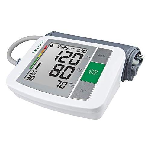 chollos oferta descuentos barato Medisana BU 510 Tensiómetro para el brazo pantalla de arritmia escala de colores de los semáforos de la OMS para una medición precisa de la tensión arterial y del pulso con función de memoria