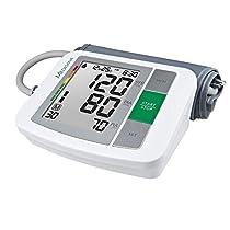 Medisana BU 510 Tensiómetro para el brazo, pantalla de arritmia, escala de colores de los semáforos de la OMS, para una medición precisa de la tensión arterial y del pulso con función de memoria