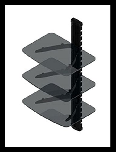 (Under TV Wall Mount 3-Shelf for Digital TV Converter Box, DSL Modem, Cable Modem )