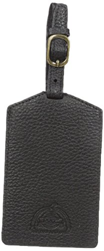 [Dopp Men's Soho Leather Luggage Tag, black, One Size] (Soho Black Leather)