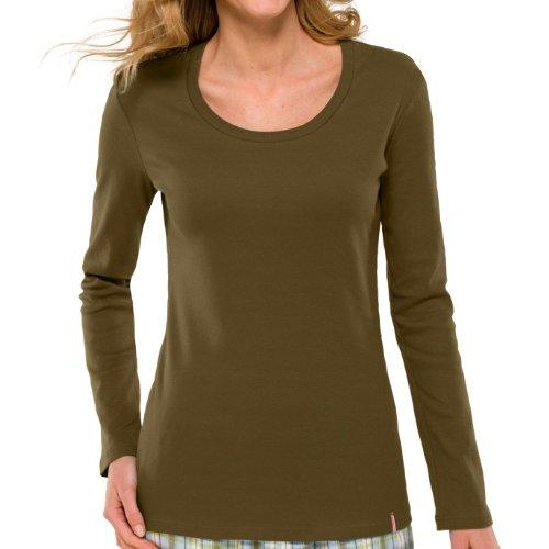 Schiesser Damen Schlafanzugsjacke 139320-701 khaki
