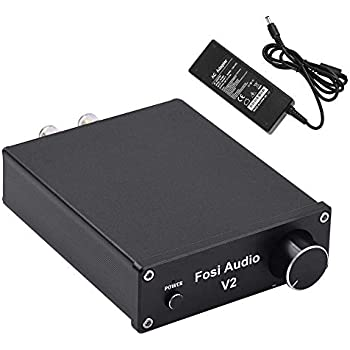 Stereo Audio Amplifier 2 Channel Amp Mini Hi Fi Cld Integrated Amplifier For Home Speakers 50w X 2 Power Supply Fosi Audio V2