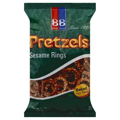 Sesame Pretzel Rings - Beigel Beigel Sesame Ring 7.1 OZ (Pack of 1)