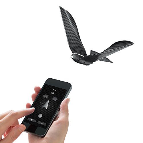 BIONIC BIRD THE FLYING APP - Premium Package - Smart Flying Robot + Egg Charger + Extra Pair of Wings - Adorama Digital Remote