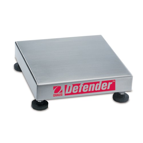 Square Base Scale Bench (Ohaus Defender 304 Stainless Steel NTEP Certified Square Bench Scale Base, 250kg x 20g)