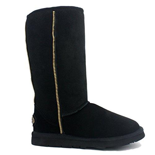 KOS Premium Studded Tall Australian Boot Sheepskin Black Womens Sheepskin Edge Transit Kingdom Winter of zgXqE0gY