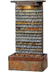 Kenroy Home Rustic Indoor/Outdoor Table Fountain ,19 Inch Height, 10 Inch Width, 6 Inch Ext. with Slate and Copper (51023SLCOP)