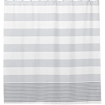 Blue Gray Turkish Stripe Shower Curtain60 By 72 Inch