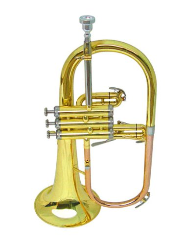 New Brass Flugel Horn w/Case.Approved+Warranty by Musign