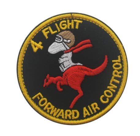 Australia Vietnam Royal Air Force Raaf 4 Flight Forward Air Control Military Patch Fabric Embroidered Badges Patch Tactical Stickers for Clothes with Hook & Loop
