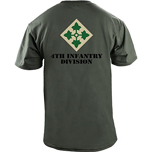 USAMM Army 4th Infantry Division Full Color Veteran T-Shirt (S, Green)