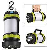 Camping Lantern Rechargeable, Lantern Flashlight LED with 800LM,6Light Modes,3800mAh Power Bank, IPX4 Waterproof,Perfect for Camping Light Hurricane,Emergency,Hiking,Outdoor,USB Cable Included
