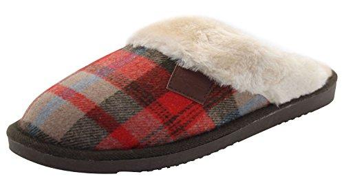 chauds fourrure Imitation pour Shetland femme Brown Chaussons 8qwvAC
